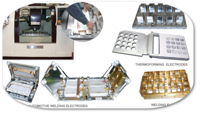 various molds and electrodes